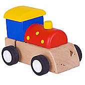 Bigjigs Toys Clockwork Train (Red with Yellow Spots)