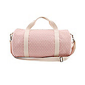 Pink Polka Dot Duffle Bag