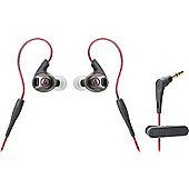 Audio-Technica ATH-SPORT3 SonicSport In-ear Headphones (Red)