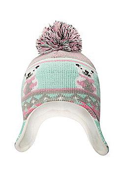 Mountain Warehouse Polar Bear Junior Knitted Kids Hat - Pink