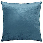 Teal Faux Velvet Cushion