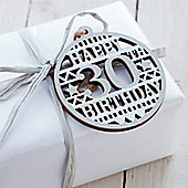 30th Birthday Wooden Tag