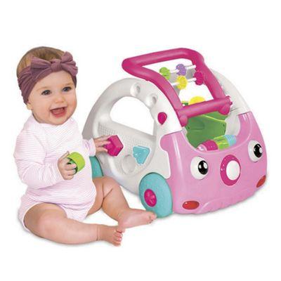 B Kids Sensory 4 In 1 Discovery Car & Walker Pink