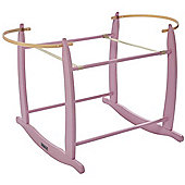 Clair de Lune Deluxe Rocking Moses Basket Stand (Pink)