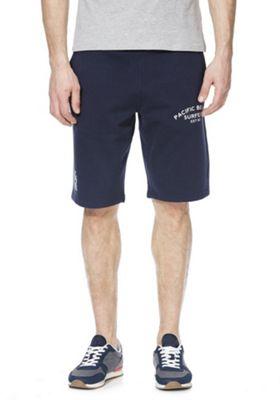 F&F Collegiate Slogan Sweat Shorts Navy 2XL