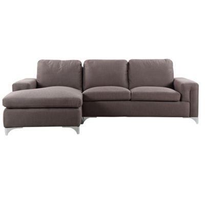 Sofa Collection Austin Woven Fabric Corner Sofa - Dark Brown