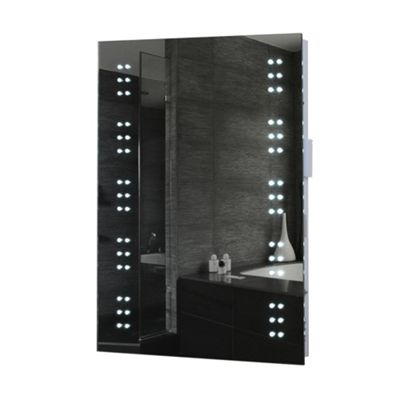 Sovereign LED Illuminated Bathroom Mirror with 60 LEDs, Battery Operation & IP44