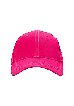 Mountain Warehouse Womens 100% Cotton Baseball Cap with Breathable Fabric - Red