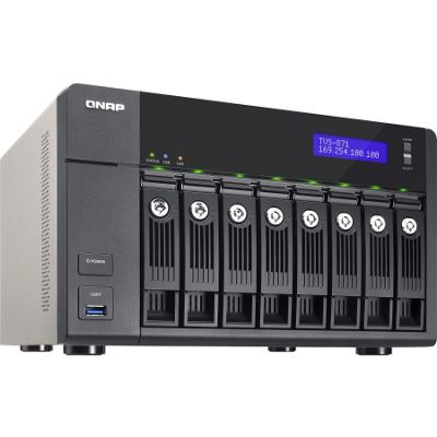 QNAP Turbo vNAS TVS-871 8 x Total Bays NAS Server - Tower