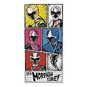 Power Rangers 'Ninja Morphin Time' Printed Beach Towel