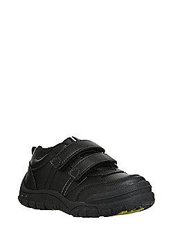 F&F Dinosaur Sole Light-Up Riptape School Shoes - Black