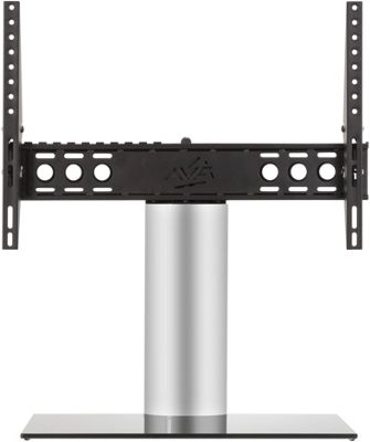 AVF Adjustable Tilt and Turn Table Top Stand For Upto 65 inch TVs - Black and Silver
