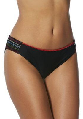 F&F Stitched Narrow Bikini Briefs Black 16