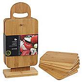 7 Piece Bamboo Chopping Board Set