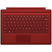 Microsoft RD2-00025 Backlit Surface Pro 3 Type Cover Keyboard - Red