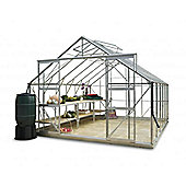Simplicity Shrewsbury Plain Aluminium 10x12 Greenhouse Starter Package with toughened glass