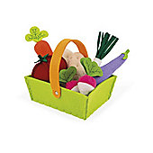 Janod Fabric Vegetable Basket with 8 Vegetables