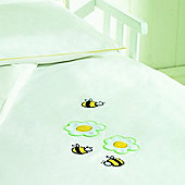 Saplings Cot Bed Quilt & Pillowcase Set - Honey Bee