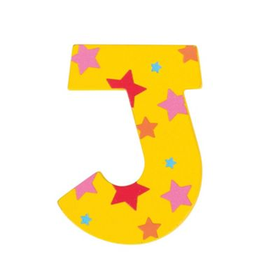 Bigjigs Toys Star Letter J (Yellow)