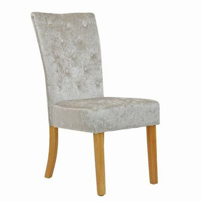 Regent Dining Chair Crushed Velvet Gold