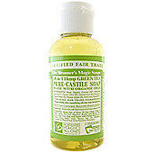 Dr Bronner's Organic Green Tea Castile Liquid Soap 59ml Travel Size