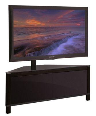 APUS 1100 Black Corner Cantilever TV Stand