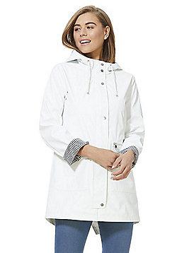F&F Shower Resistant Rain Mac - White