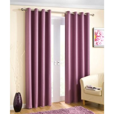 Enhanced Living Wetherby Heather Eyelet Curtains - 90x90 Inches (229x229cm)
