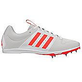 adidas Allroundstar Kids Running Spike Trainer Shoe White/Red - UK 6