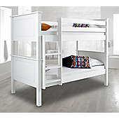 Happy Beds Vancouver Wood Kids Bunk Bed with 2 Pocket Spring Mattresses - White - 3ft Single