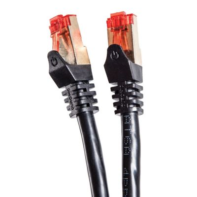 Duronic Black 0.5m Cat6a Network cable