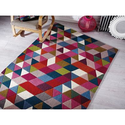 Illusion prism rug - pink,blue,green/multi - 120x170cm