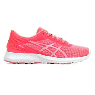 Asics Nitrofuze Womens Running Fitness Trainer Shoe Pink/ White - UK 4