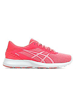 Asics Nitrofuze Womens Running Fitness Trainer Shoe Pink/ White - Pink
