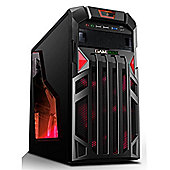 Game Max Centurion Red Gaming Case With Front & Rear Red Led Fans 1X Usb3