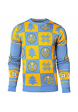 NBA Basketball Denver Nuggets Patches Crew Neck Sweater - Multi