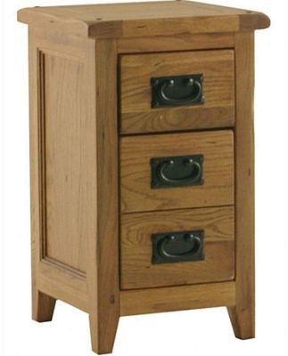 Kelburn Furniture Bordeaux 3 Drawer Bedside Table