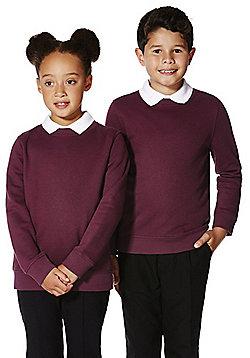 F&F School Unisex Sweatshirt with As New Technology - Burgundy