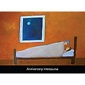 Holy Mackerel Anniversary Intercourse Greetings Card