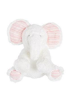 F&F Faux Fur Elephant Comforter - White