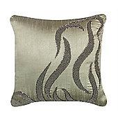 Beaded Wave Cushion - Brown