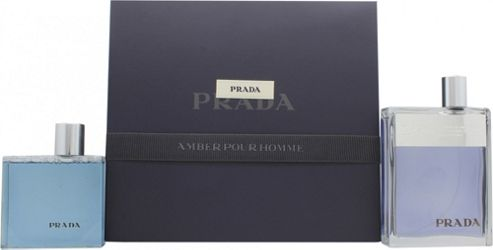 a2e68dc95929 Buy Prada Amber Pour Homme Gift Set 100ml EDT + 100ml Shower Gel For ...