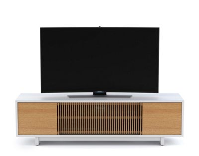 BDI Vertica White Oak Low TV Stand
