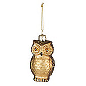 Glass Owl Bauble - Christmas Tree Decoration