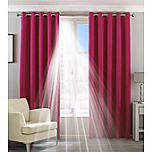 Riva Home Eclipse Blackout Eyelet Curtains - Pink