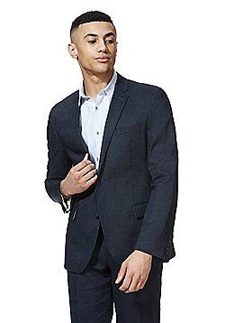 F&F Linen Blend Regular Fit Suit Jacket - Navy