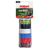 UniBond Electrical Tape 6 Colours 19mm x 3.5m