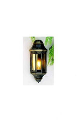 Norlys Mini Malaga Wall Lantern - Black/Gold