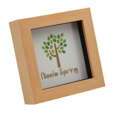 Light Wood Effect 4x4 Box Photo Frame - Standing & Hanging