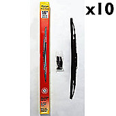 Stadium - Universal Fit Spoiler Wiper Blades 16inch - 10 Pack